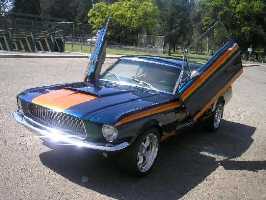Mustang 69-70 BOLT ON LAMBO DOORS - VERTICAL DOORS