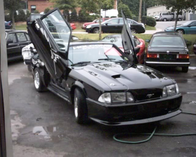 Mustang 79-93 BOLT- ON LAMBO DOORS - VERTICAL DOORS