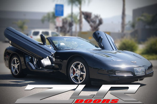 C5 Corvette 97-04 BOLT ON ZLR BUTTERFLY GULLWING DOORS