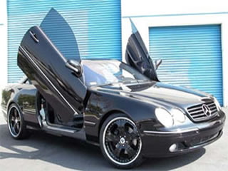 mercedes benz suicide doors and lambo doors