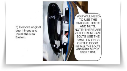 This is an example of a bolt on installation.