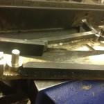 Raw lambo door after welding