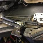 Scissor doors Inc Lambo door fab test fitting shock to gusset clearance